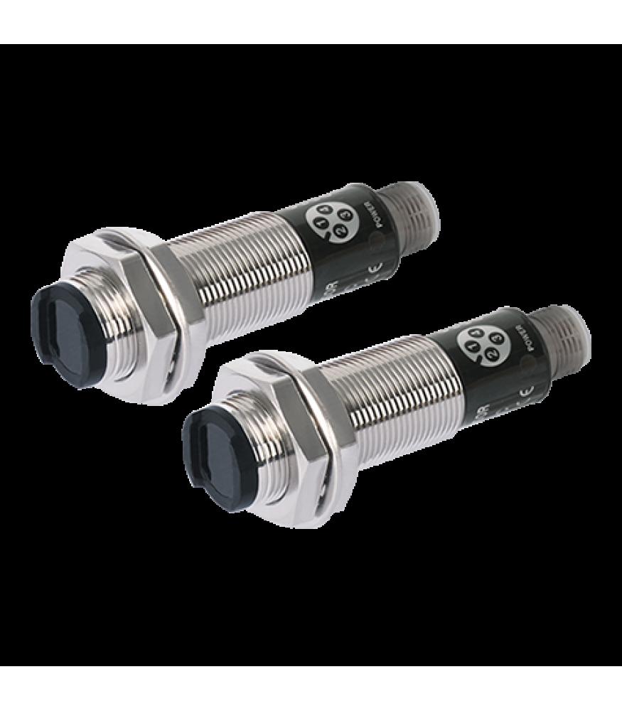 Light On 18mm Round Brass 20 Meter Range Photo Through Beam 12-24 VDC NPN Output AUTONICS BR20M-TDTL Sensor